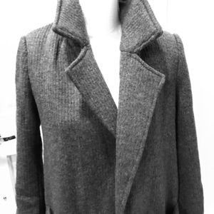 NWT Gray long coat size Large